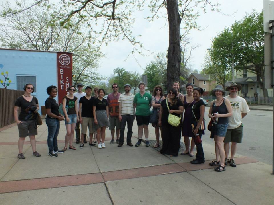 One of the What Grows Here Story Tours in May, 2013. Photo by Mike Hoyt.