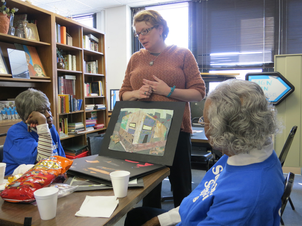 The collages were inspired by discussions about the history and culture of the neighborhoods with senior citizen's groups such as the Senior Center at Sabathani Community Center