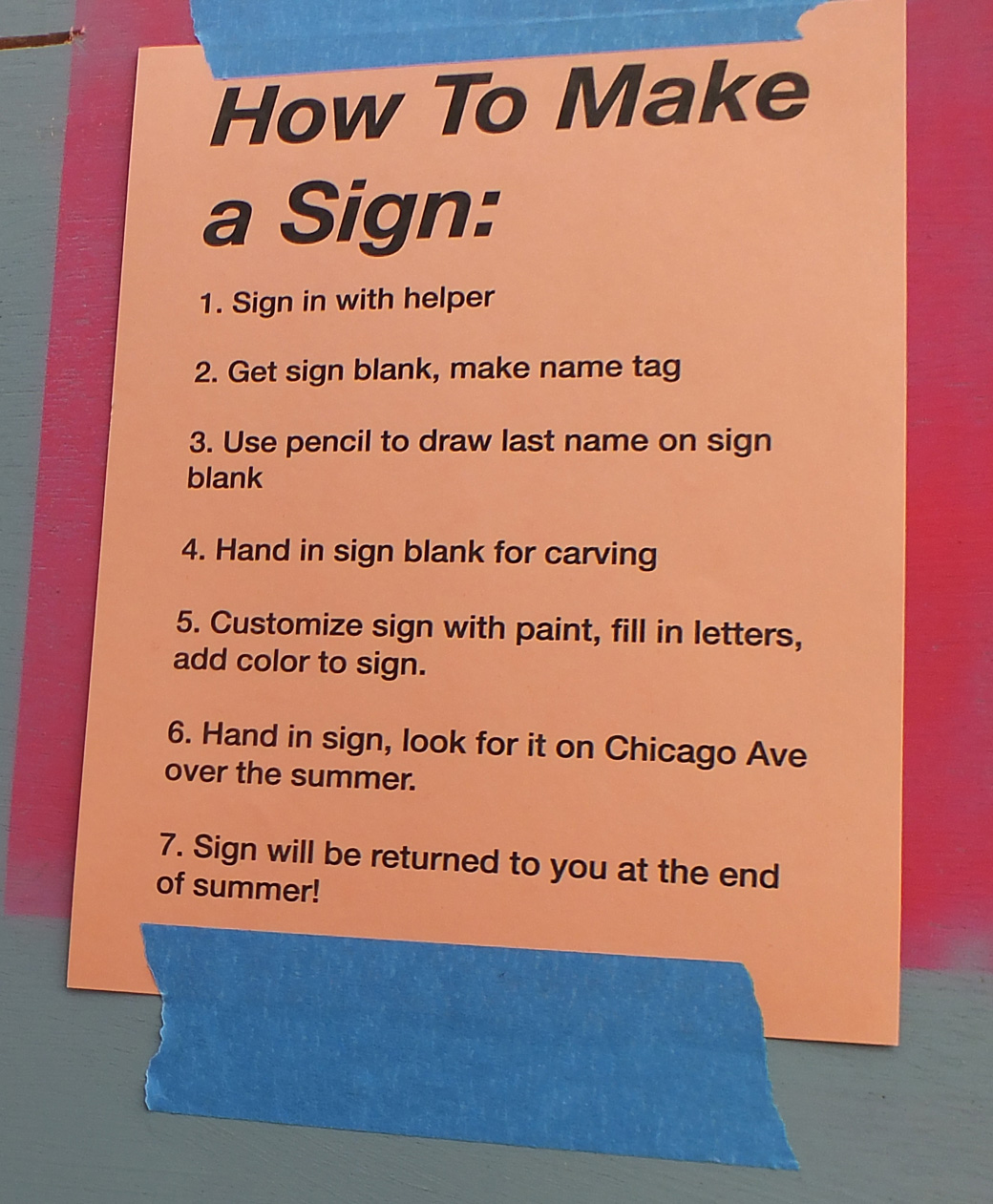 How to Make a Sign.