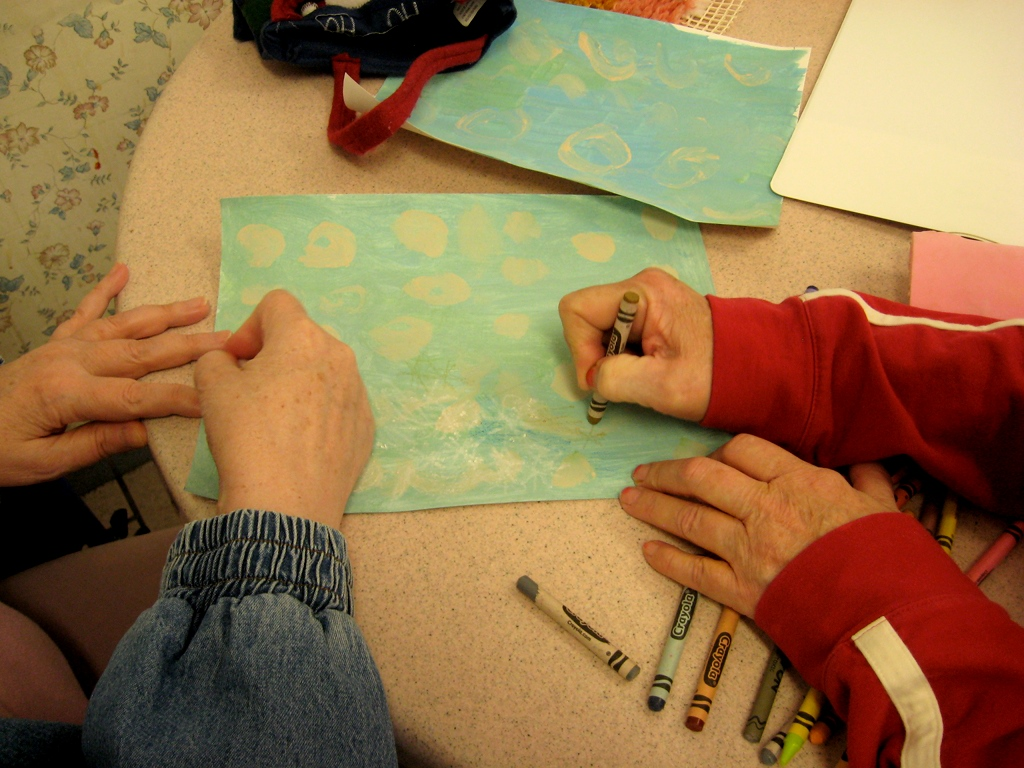 Painting sessions within youth at Pillsbury House and Urban Arts Academy