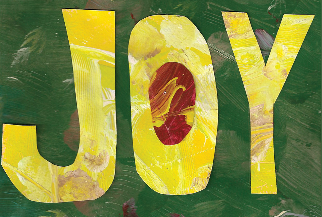Joy - One of the collages created by the Collage Collaborative for Arts on Chicago