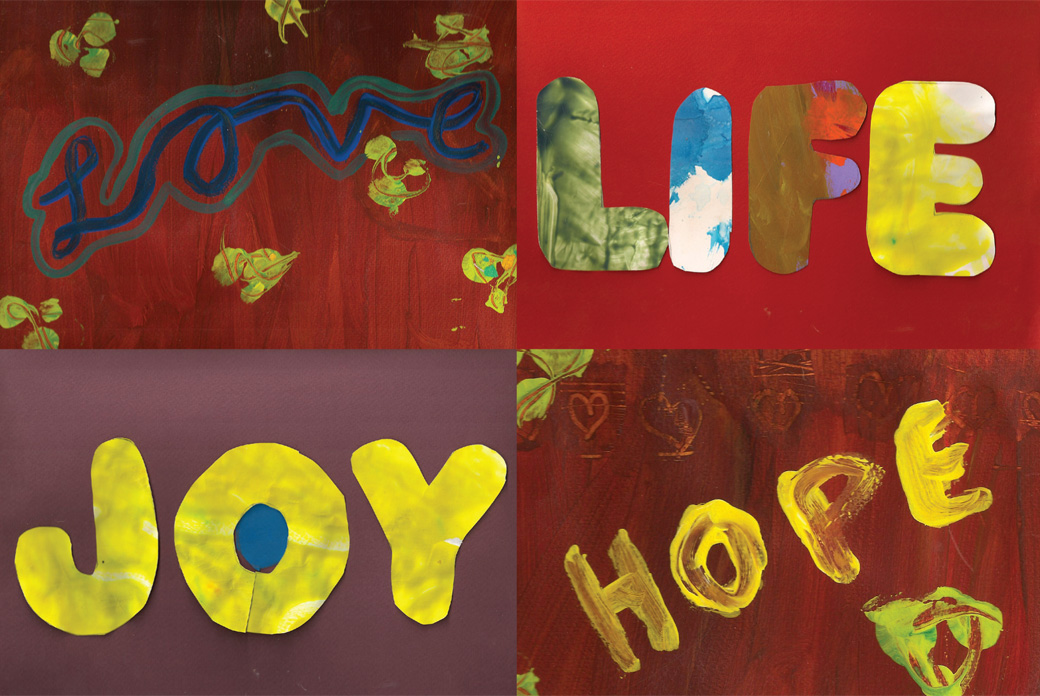 Love, Life, Joy, Hope - One of the collages created by the Collage Collaborative for Arts on Chicago