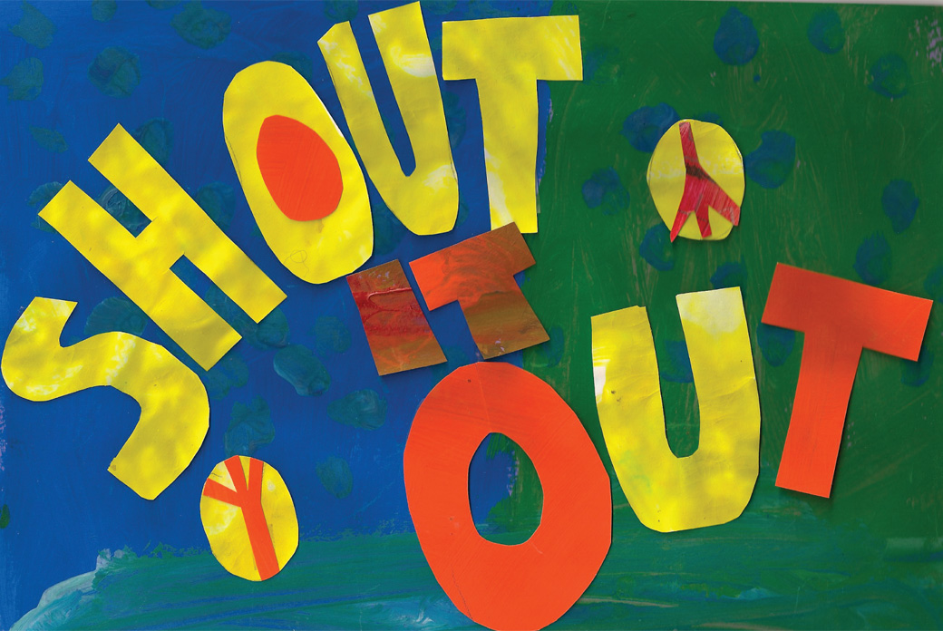 Shout it Out - One of the collages created by the Collage Collaborative for Arts on Chicago