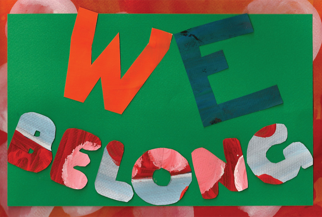 We Belong - One of the collages created by the Collage Collaborative for Arts on Chicago