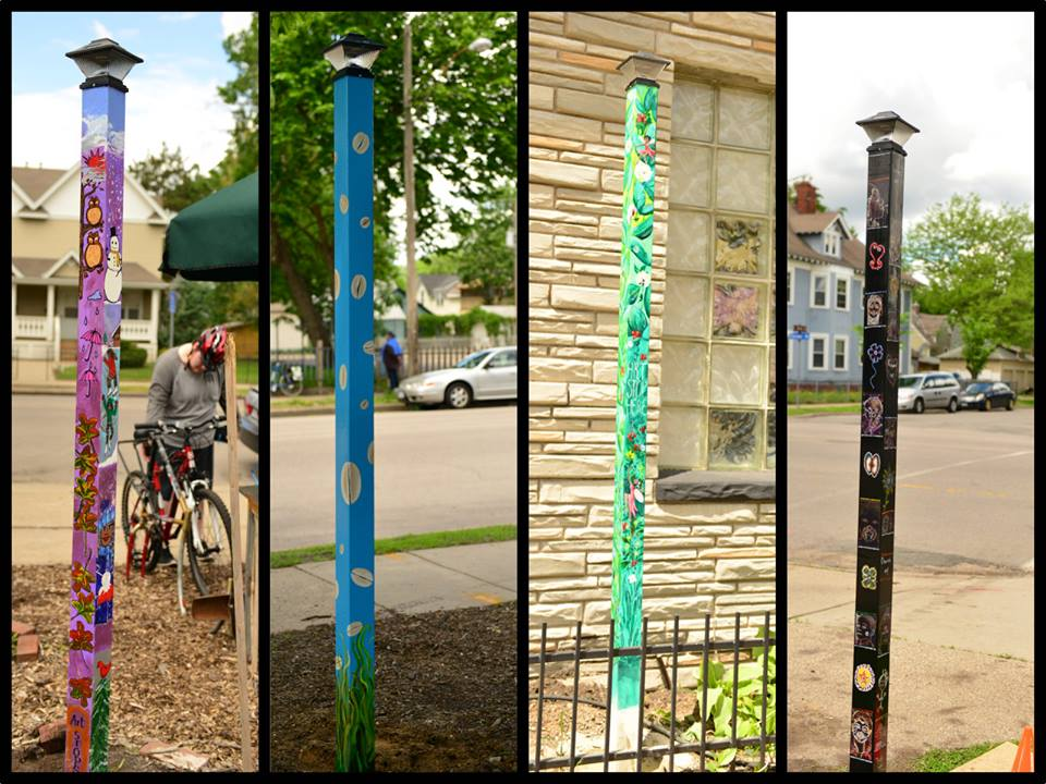 Four Soul Poles along Chicago Avenue between 32nd and 42nd Streets!