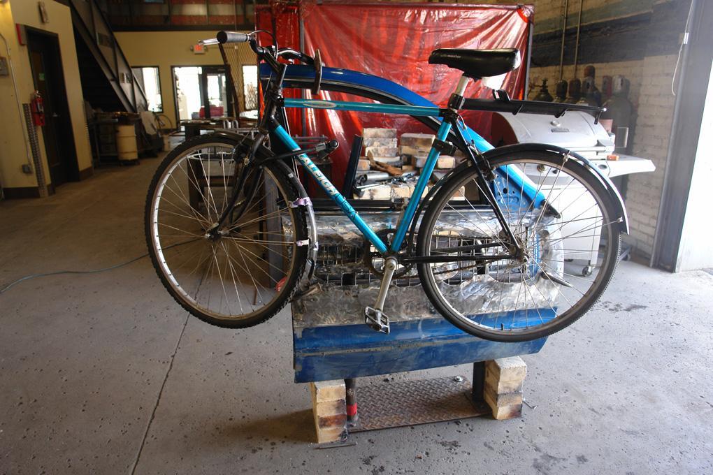 Bike Rack Test, photo by Ethan Turcotte