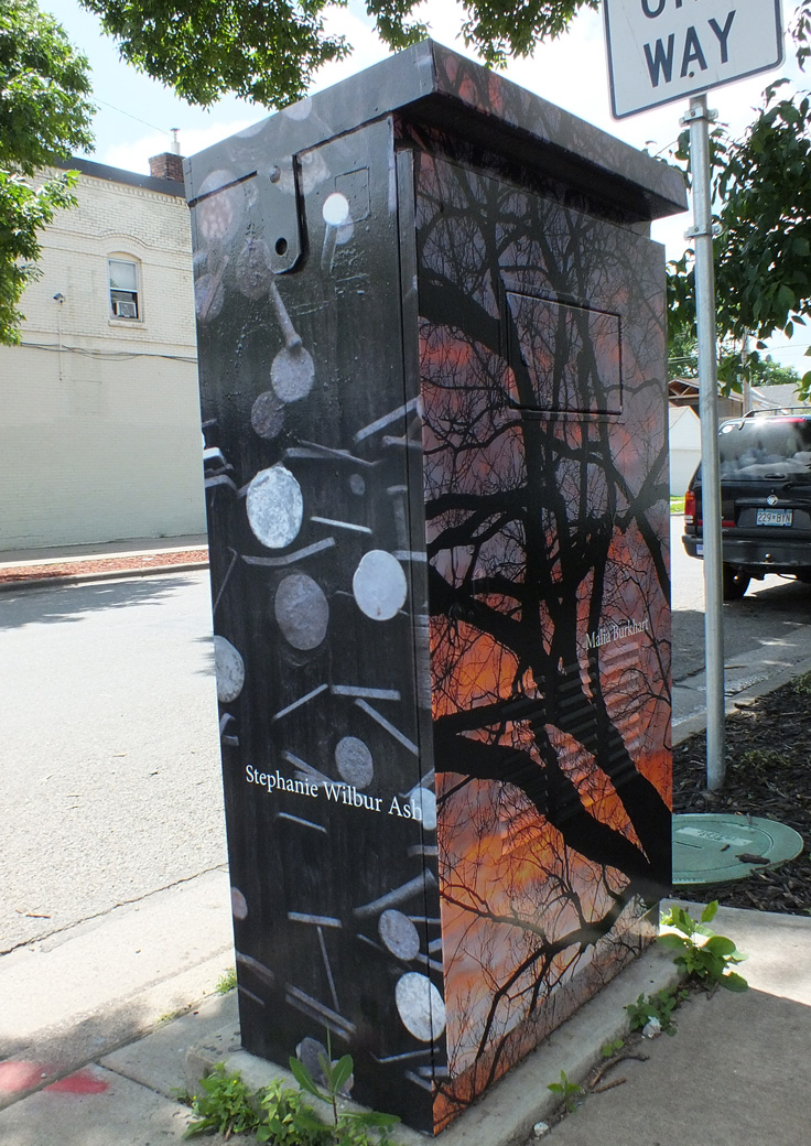Utility box on 35th Street and Chicago outside of StevenBe's