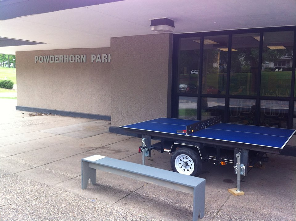 The Temporary Table Tennis Trailer at Powderhorn Park