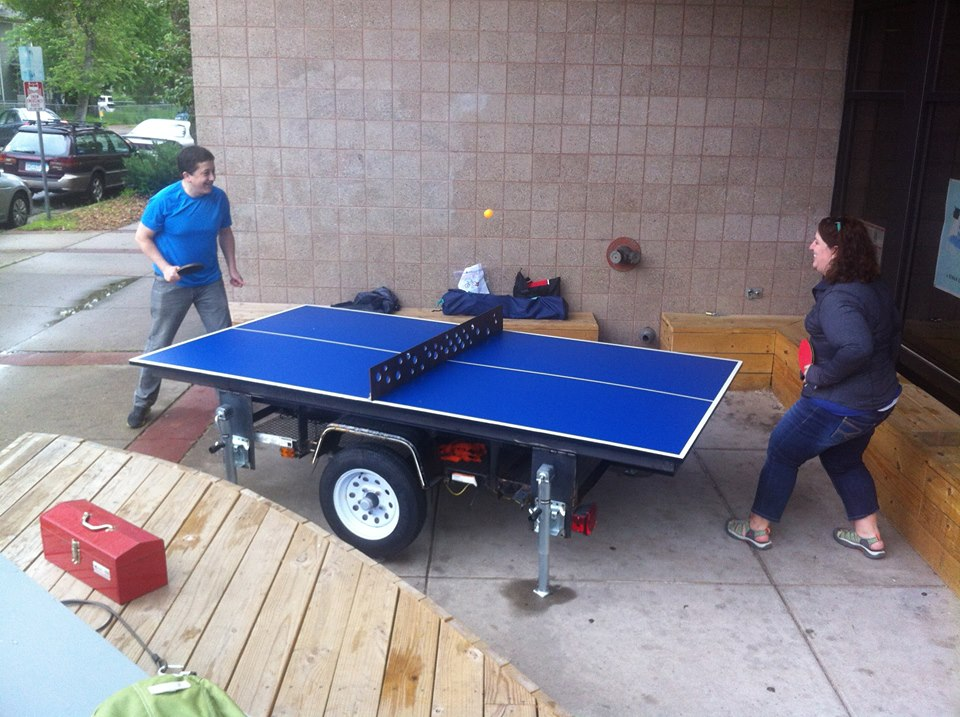 The Temporary Table Tennis Trailer at Pillsbury House + Theatre